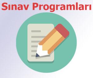 2020 – 2021 Öğretim Yılı GüzYarıyılı  Yarıyıl Sonu Sınav Programı